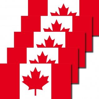 5 Aufkleber 6, 5cm Sticker Kanada CAN canadian Fußball Deko EM WM Flagge Fahne