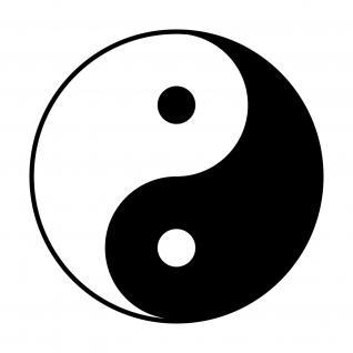 Aufkleber Tattoo Fenster Tür Auto Deko Folie 25cm I Ging Taiji Symbol Yin & Yang