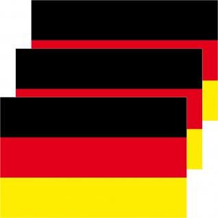 3 Aufkleber 8, 5cm Sticker WM EM BRD Deutschland Fußball National Fahnen Flaggen