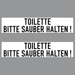 Aufkleber 20cm Toilette Bitte Sauber Halten PVC Sticker Hinweis Tür Wand WC 00 - Vorschau 1
