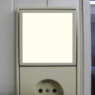 2 Aufkleber 6cm Quadrat leuchtet im Dunkeln selbstleuchtende Folie Lichtschalter