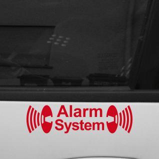 2 Stück Alarm System rot Aufkleber Tattoo Folie für Außenseite Tür Fenster etc.