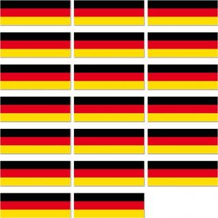 20 Aufkleber 4, 2cm Sticker BRD Deutschland Länder Fahne Flagge lang RC Modellbau