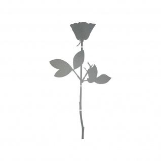 Rose 20cm silber Auto Tür Fenster Möbel Deko Folie Depeche Mode Aufkleber Tattoo