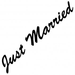 Just Married 55cm schwarz Aufkleber Tattoo Hochzeit Deko Folie Auto Heck Scheibe
