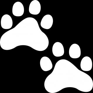 Paar Pfoten 7cm weiß 2 Pfötchen Hund Katze Auto Napf Deko Aufkleber Tattoo Folie