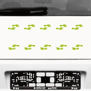 10 Paar 20 Füße 5cm grün Aufkleber Tattoo Kinder Elfen Füßchen Fuß Deko Folie - Vorschau