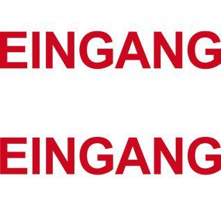 2 Aufkleber EINGANG 35cm rot Schriftzug Tattoo Deko Folie Tür Schild Hinweis