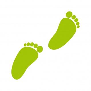 1 Paar 2 Füße 8cm grün Baby Fuß Abdruck Spur Aufkleber Tattoo Möbel Deko Folie