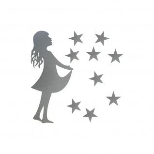 15cm Sterntaler + 2, 5cm Sterne silber Aufkleber Folie Sternfänger 4061963041871