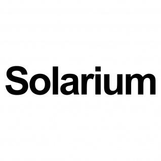 Solarium 40cm schwarz Aufkleber Tattoo Folie Schriftzug Fitness / Sonnenstudio