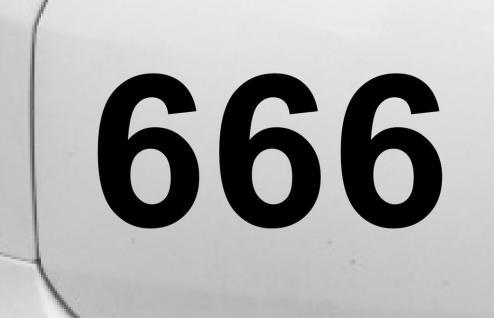 666 Teufel Devil Auto Wand Tür Zimmer Nummer Deko Aufkleber Sticker Tattoo sign