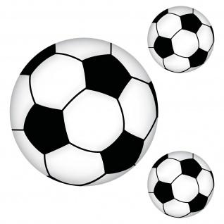 Aufkleber Set 20cm + Sticker 10cm Bälle Fußball EM WM Fan Deko Tür Fenster Auto
