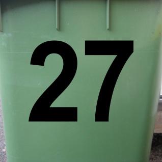 Ziffer Nr 1 schwarz 12cm Zahl Hausnummer Haus Nummer Aufkleber Tattoo Deko Folie - Vorschau 2