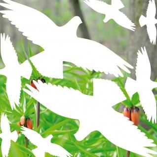25cm Set weiß Vogel Aufkleber Glas Schutz Warnvögel Fenster Tattoo Deko Folie