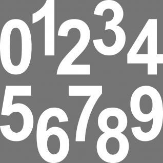 1 Stück 12cm weiß Aufkleber Tattoo Hausnummer Wunschziffer Zahl Nummer Ziffer - Vorschau 3