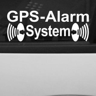 10 Aufkleber Tattoo GPS Alarm System weiß Deko Folie gespiegelt für Innenseite
