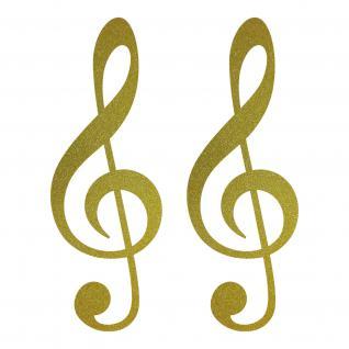2 aufkleber 25cm gold violinschl ssel notenschl ssel musik tattoo deko folie kaufen bei green it. Black Bedroom Furniture Sets. Home Design Ideas