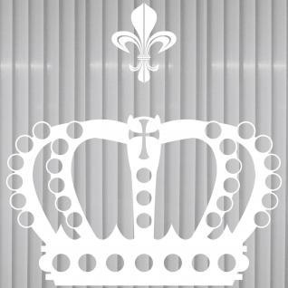 Krone mit Lilie 38cm weiß Aufkleber Tattoo Deko Folie Auto Möbel Fenster Tür