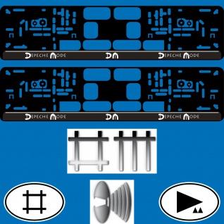 2 kennzeichenhalter kfz auto pkw eu nummernschild halter depeche mode spirit dm kaufen bei. Black Bedroom Furniture Sets. Home Design Ideas
