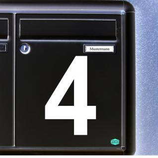 1 Stück 12cm weiß Aufkleber Tattoo Hausnummer Wunschziffer Zahl Nummer Ziffer - Vorschau 1