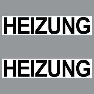2 Aufkleber 20cm Heizung Sticker Hinweis Schild für Tür Tor Heizraum Keller