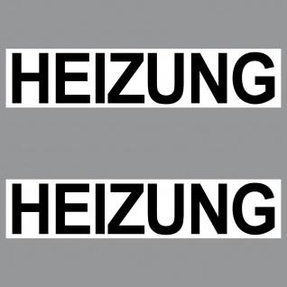 Aufkleber Heizung 20cm Sticker Hinweis Schild Tür Tor Heizraum Keller Treppe