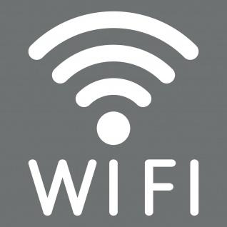 Aufkleber Tattoo WIFI 50cm weiß WLAN Hotspot kostenlos Internet Zugang Zeichen