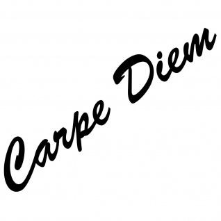 20cm schwarz Carpe Diem Schriftzug Aufkleber Tattoo Auto Tür Fenster Deko Folie
