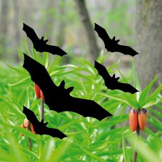 Fledermaus schwarz Set S Vogel Schutz Warnvogel Aufkleber Tattoo Fensterschutz