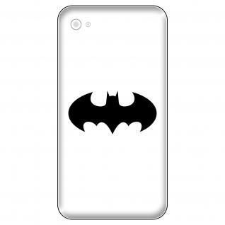 4 Aufkleber Tattoo 5cm schwarz Batman old Fledermaus Handy smartphone Deko Folie