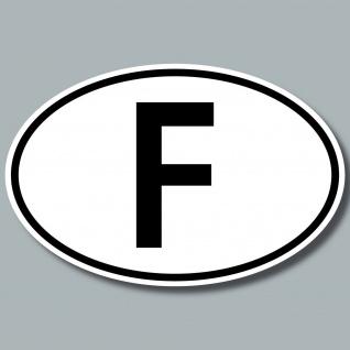 F Aufkleber Sticker FRA FR Frankreich Auto Pkw Lkw Kfz Bus Länderkennzeichen