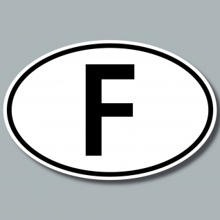 F Aufkleber Sticker Frankreich Länderkennung Länderkennzeichen 4061963019801