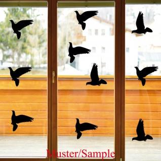 10 Aufkleber 20cm Warnvogel Vogel Schreck Fenster Glas Scheibe Schutz Deko Folie
