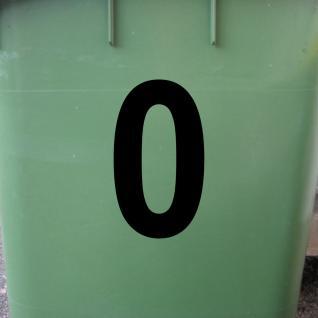 Ziffer 0 schwarz 12cm Aufkleber Tattoo Nummer Zahl Hausnummer Haus Tür Mülltonne - Vorschau 2