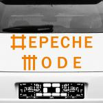 Aufkleber Schriftzug orange Auto Wand Fenster Deko Folie Depeche Mode Univers