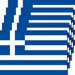 5 Aufkleber 8, 5cm Sticker GR Griechenland Fußball EM WM National Flagge Fahne