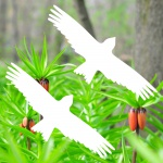 Warnvögel 20cm weiß Milan Vögel Warnvogel Aufkleber Vogel Fenster Glas Schutz