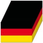 20 Aufkleber 8, 5cm Sticker BRD Deutschland Fußball WM EM National Fahnen Flaggen