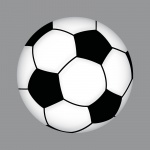 Aufkleber 10cm Sticker Ball Fußball Fan Fußballaufkleber Fußballsticker EM WM