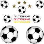 14 Teile Aufkleber Sticker Tattoo Auto Deko Folien Fußball Fan EM WM Deutschland