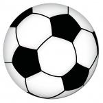 Aufkleber 20cm Sticker Ball Fußball Fan Fußballaufkleber Fußballsticker EM WM