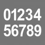 6cm weiß Aufkleber Tattoo Haus Nummer Ziffer Zahl wählbar für Wandleuchte Lampe