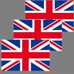 3 Aufkleber 6, 5cm Sticker ENG UK GB Fußball England EM WM National Flagge Fahne