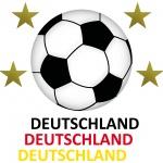 Set L Aufkleber Tattoo Auto Deko Sticker + Folien Fußball Fan EM WM Deutschland