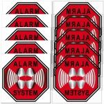 1 + 1 Alarm System Aufkleber 5cm rot Sticker für Innenseite Fenster Glas Scheibe