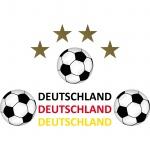 Set Aufkleber Sticker Tattoo Auto Heck Deko Folien Fußball EM WM Deutschland