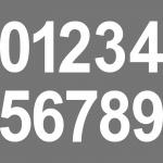 10cm weiß Aufkleber Tattoo Haus Nummer Ziffer Zahl wählbar für Wandleuchte Lampe