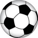 Aufkleber 20cm Sticker Ball Sport Fußball Fan Deko EM WM Tür Fenster Zimmer Auto