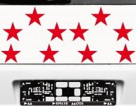 10 Klebesterne 10cm rot Sterne Auto Fenster Aufkleber Tattoo decals Deko Folie
